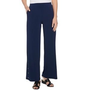Every Day Susan Graver liquid knit wide leg pant